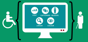 Website ADA Compliance, Font, Captioning, Readers, Larger, Colour